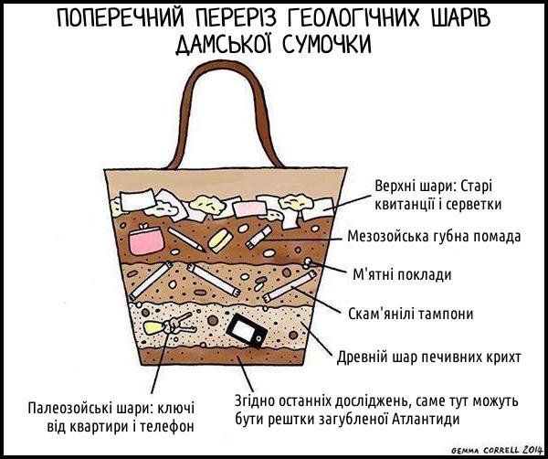 Дослідження дамської сумки