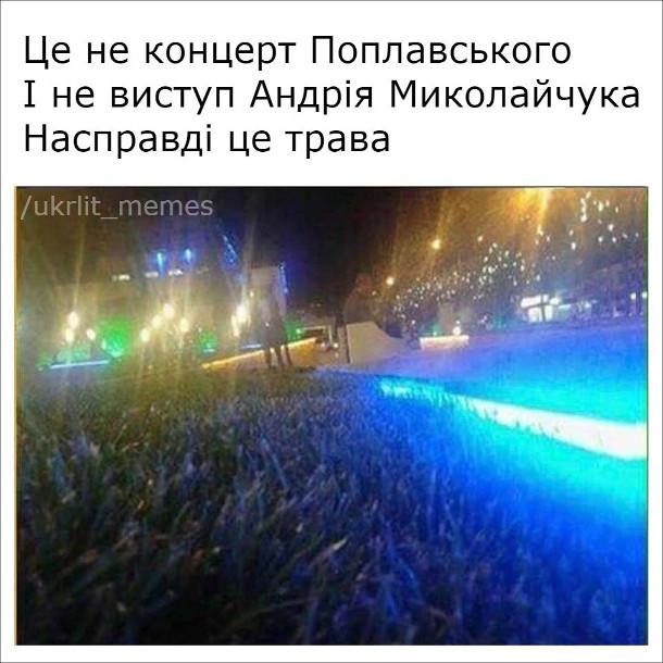 Це не концерт Поплавського і не виступ Андрія Миколайчука. Насправді це трава
