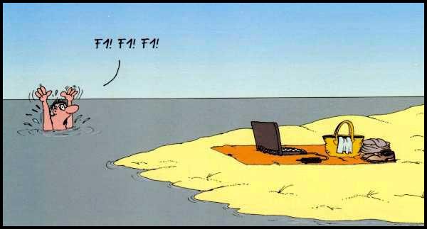 Коли програміст тоне. Гумор