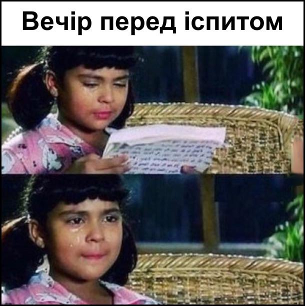 Вечір перед іспитом - читаєш конспекти й плачеш