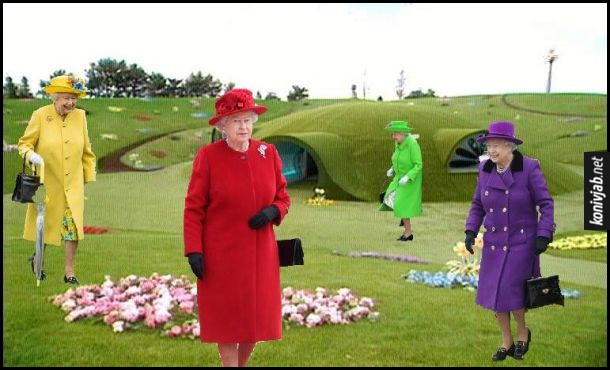 Жарт про одяг королеви Єлизавети